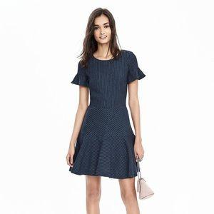 Banana Republic Pin Stripe Fit & Flare Dress